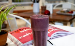 Smoothie at restaurant for tanker truck driver